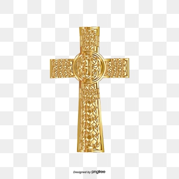 Golden Cross PNG Images.
