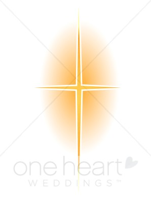 Gold Star Cross with Glow.