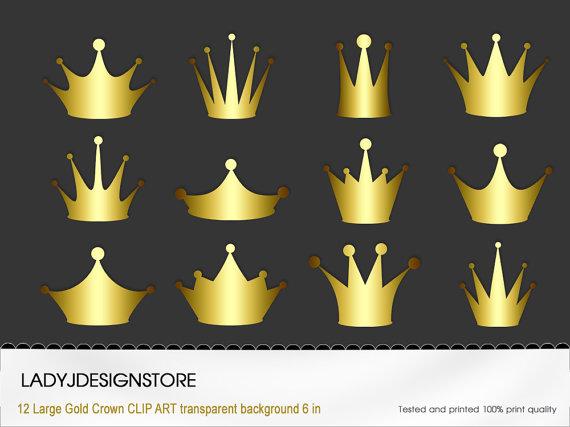 Golden crown clipart.