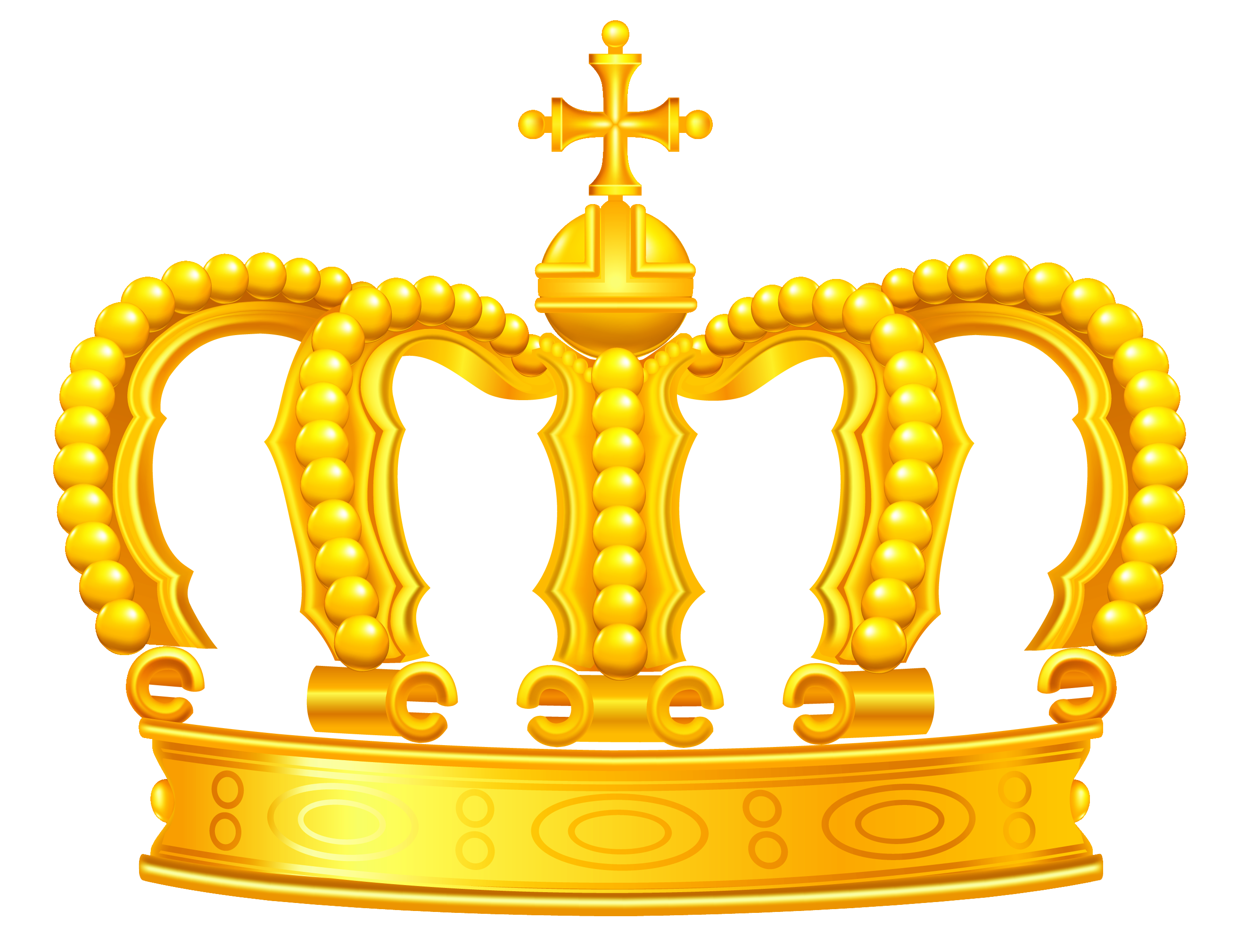 Golden crown clipart.