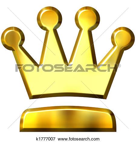 Drawings of 3D Golden Crown k0825524.