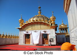 Stock Images of Golden cupola of temple in Auroville, India.