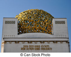 Stock Photo of golden cupola of the vienna sezession museum.