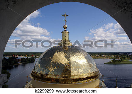 Stock Photograph of Golden cupola k2299299.