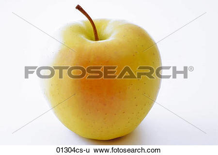 Stock Images of Golden Delicious apple 01304cs.