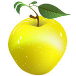 EPS Vector of Fresh apple.