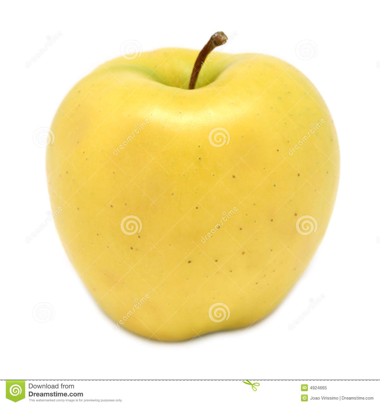 Golden Delicious Apple Royalty Free Stock Photo.