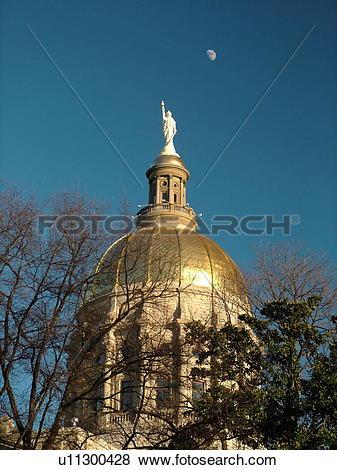 Pictures of Atlanta, GA, Georgia, State Capitol, State House.