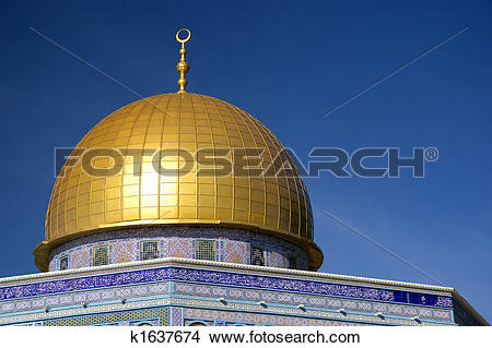 Stock Photo of Golden Dome of a Mosque k1637674.