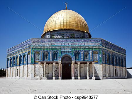 Picture of Golden dome of Jerusalem csp9948277.