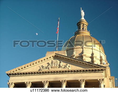 Stock Images of Atlanta, GA, Georgia, State Capitol, State House.