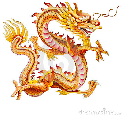 Golden Dragon Statue Isolated Stock Photos, Images, & Pictures.