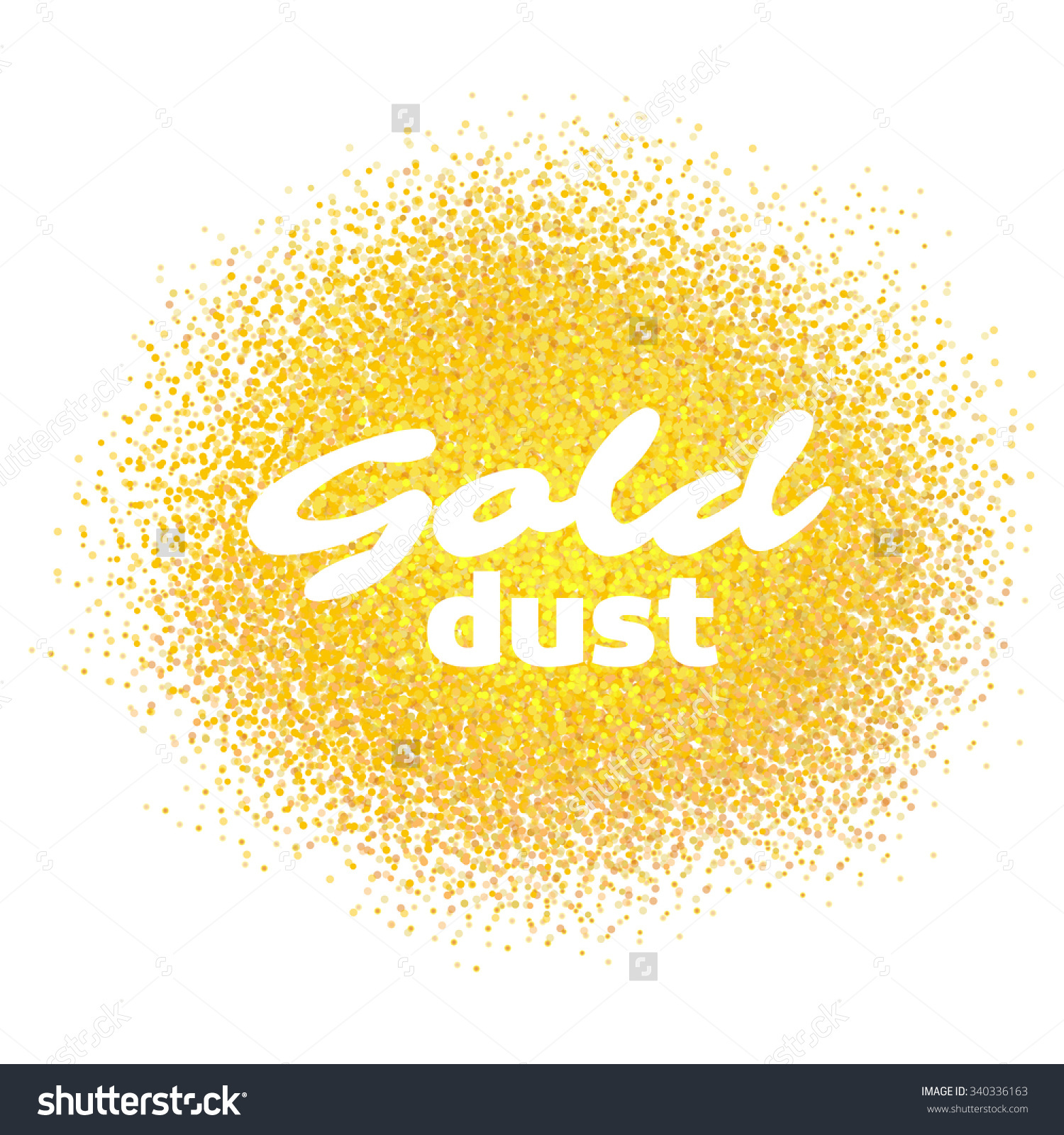 Gold Dust Gold Sand Gold Sparkles Stock Vector 340336163.