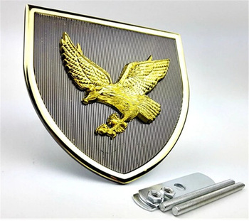 Top Quality Personalized Eagle Logo Badge Souvenir And Golden Eagle Shape  Badge.
