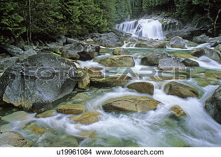 Stock Photo of Lower Falls, Golden Ears Provincial Park, British.