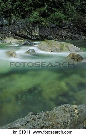 Stock Photography of gold creek golden ears provincial park.