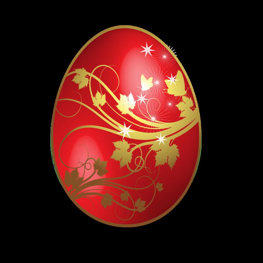 Golden Easter Egg Clip Art