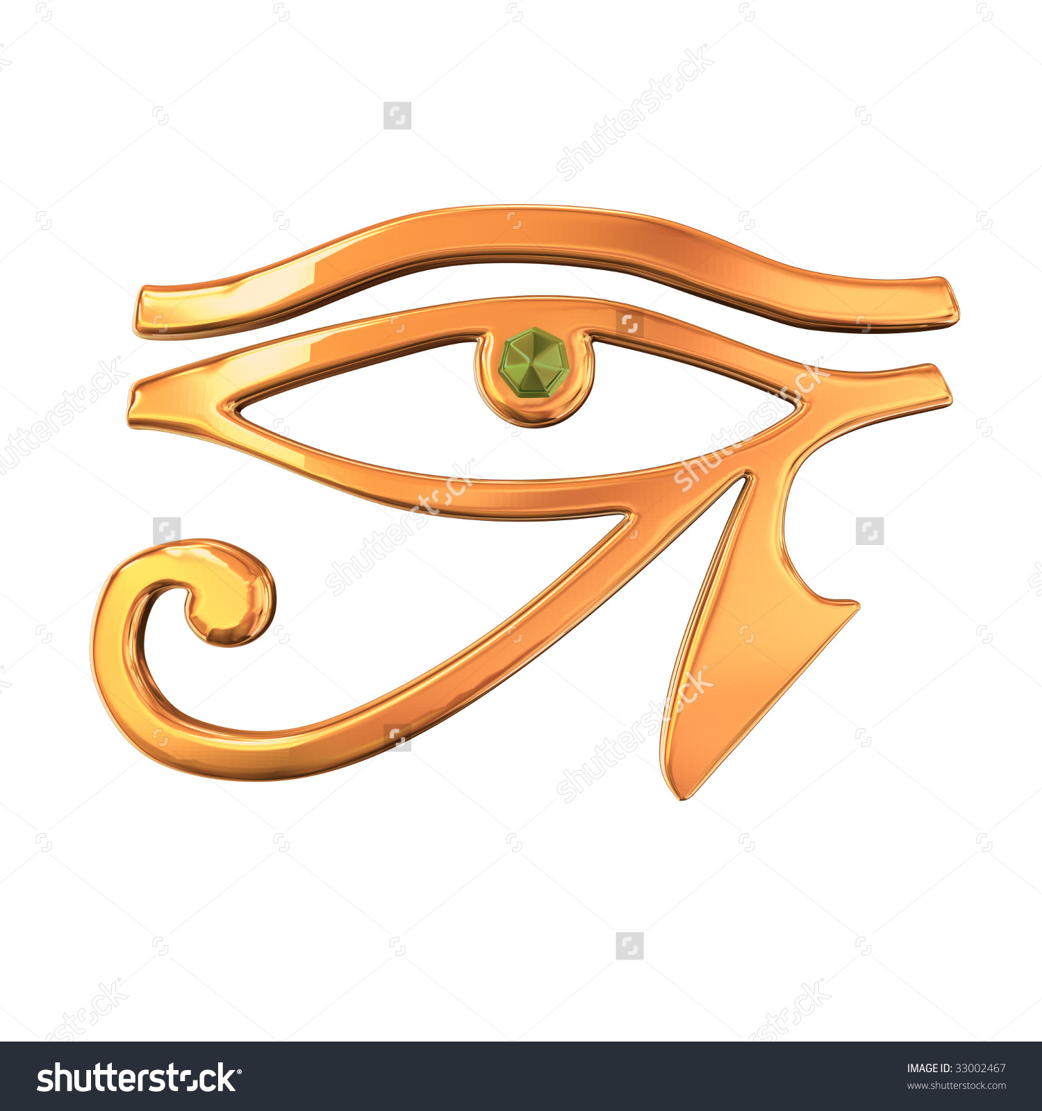 3d Model Golden Eye Horus Stock Photo 33002467.