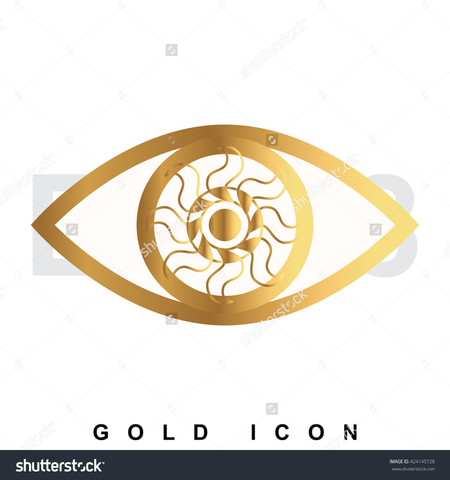 Golden Eye Premium Icon Graphic Web Stock Vector 424145728.