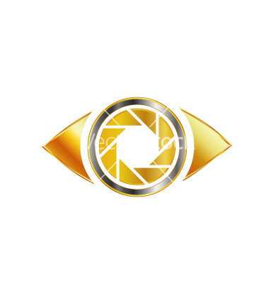 Golden eye photography logo vector by ShawlinMohd.
