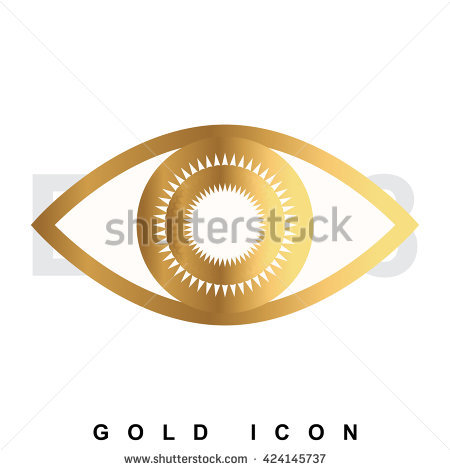 Golden eye clipart.