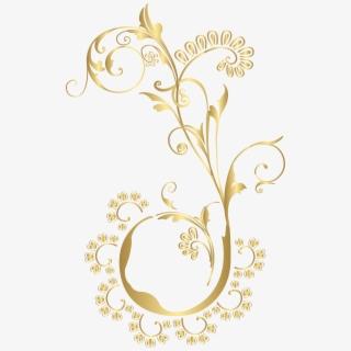 Download Png Ribbon Gold Clipart Gold Floral Design.