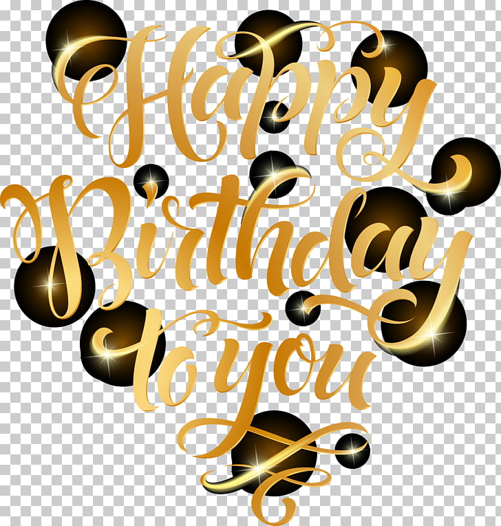 Golden font Birthday Celebration, Happy Birthday To You text.