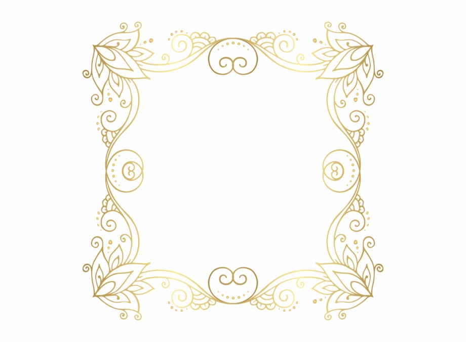 Graphic Royalty Free Download Gold Frame Png Clip.
