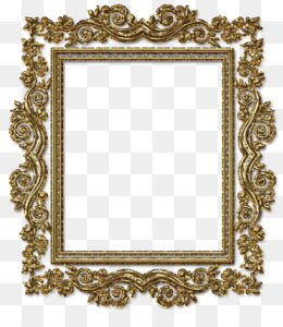 Geometric Gold Frame PNG and Geometric Gold Frame.