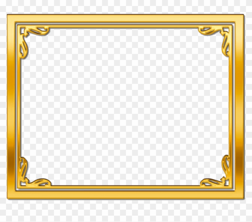 Gold Frame Png Picture.