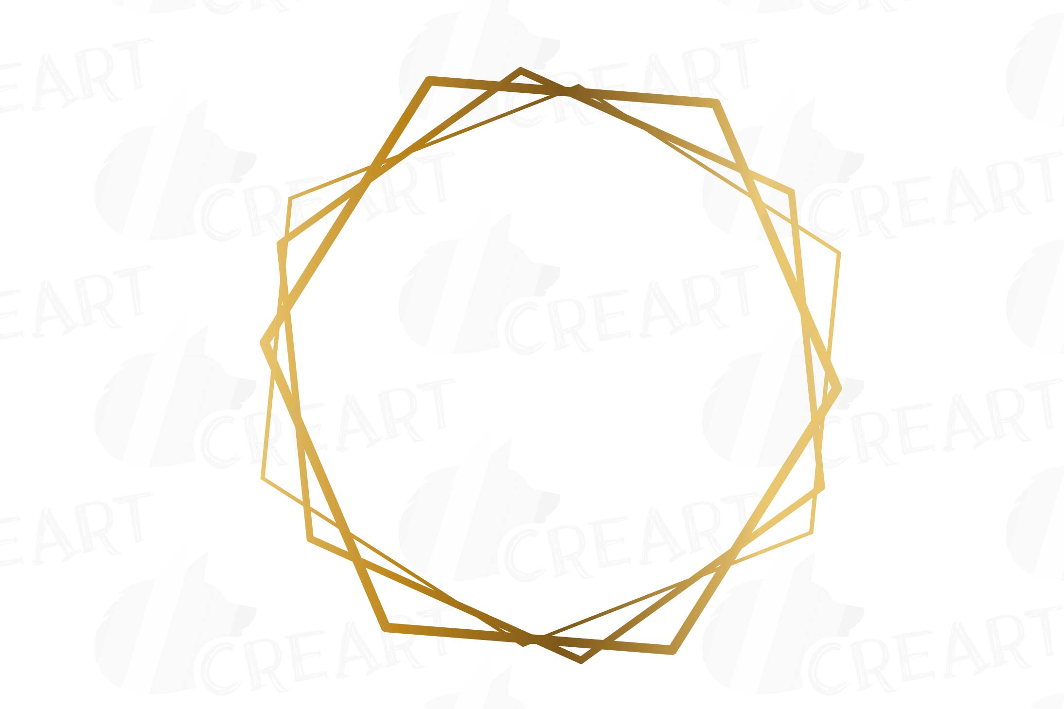 Elegant wedding geometric golden frames, lineal frames png.