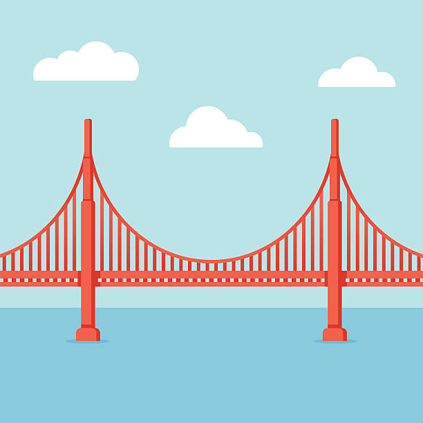 Best Golden Gate Bridge Illustrations, Royalty.