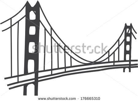 golden gate bridge vector.