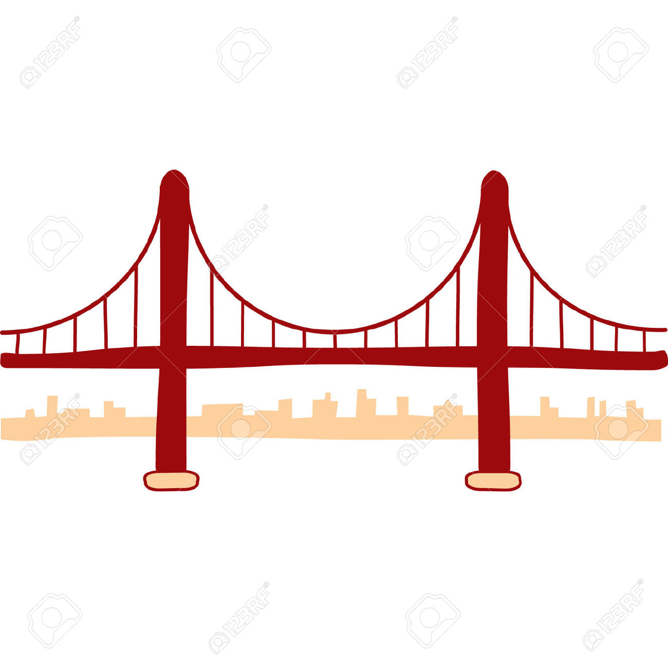 345 Golden Gate Bridge free clipart.
