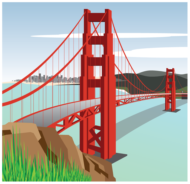 Golden Gate Bridge Clip art.