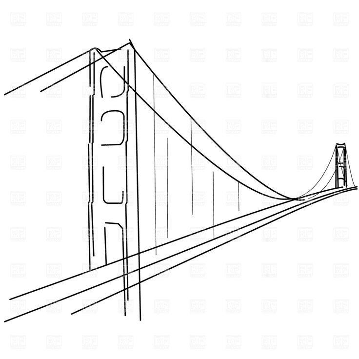 Simple Golden Gate Bridge Clipart  in 2019.