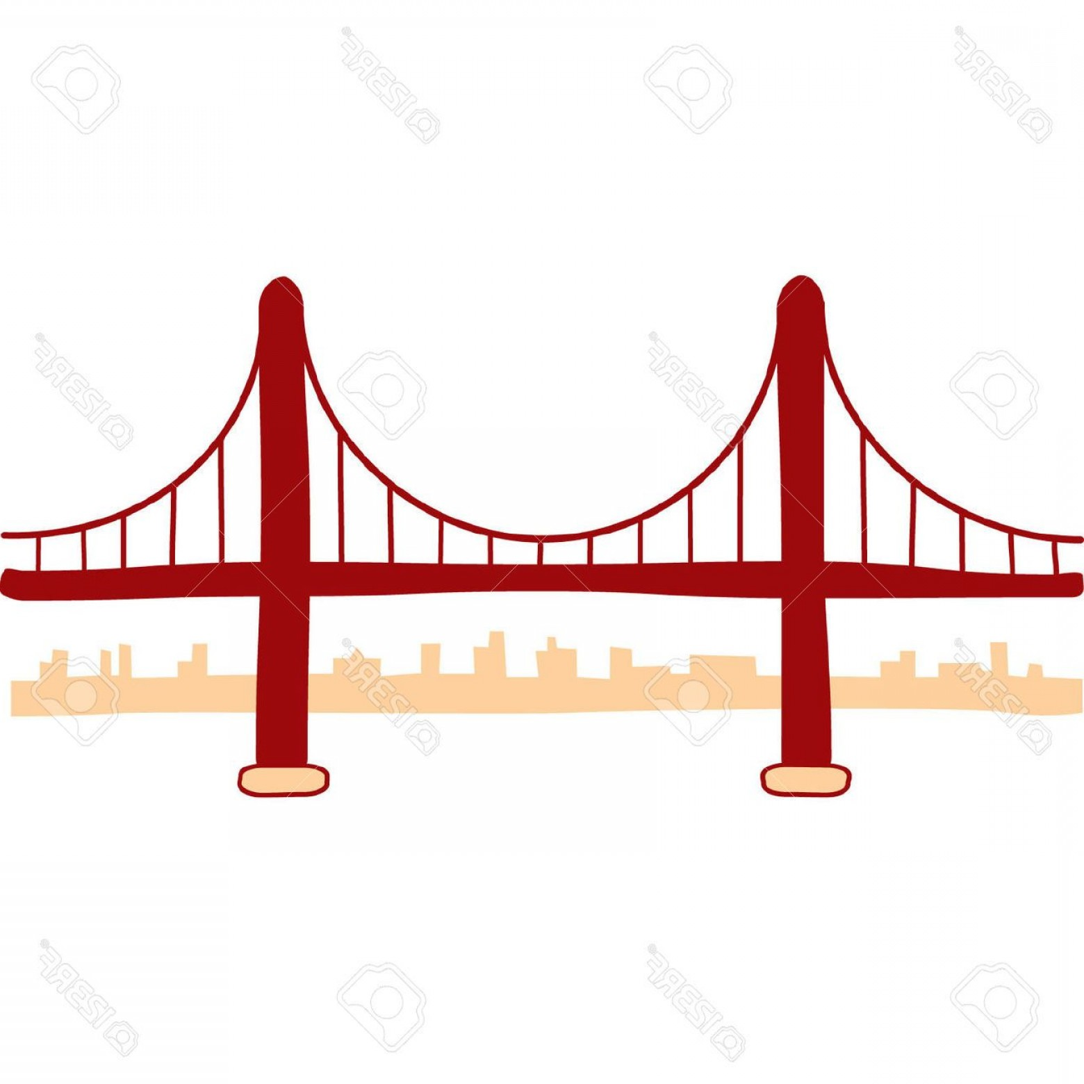 Golden Gate Bridge Drawing Clip Art.