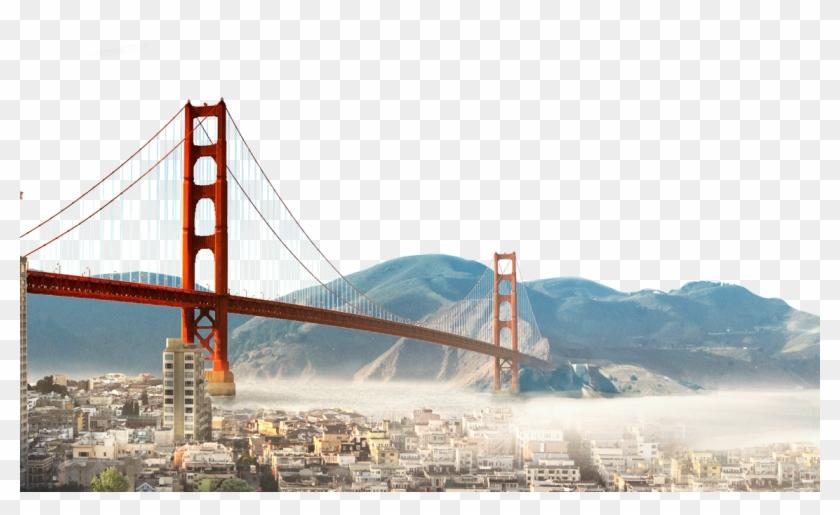 Golden Gate Bridge , Png Download.