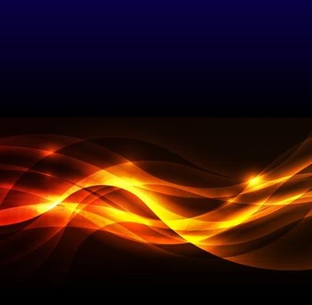 Abstract Golden Glow Background, free vectors.