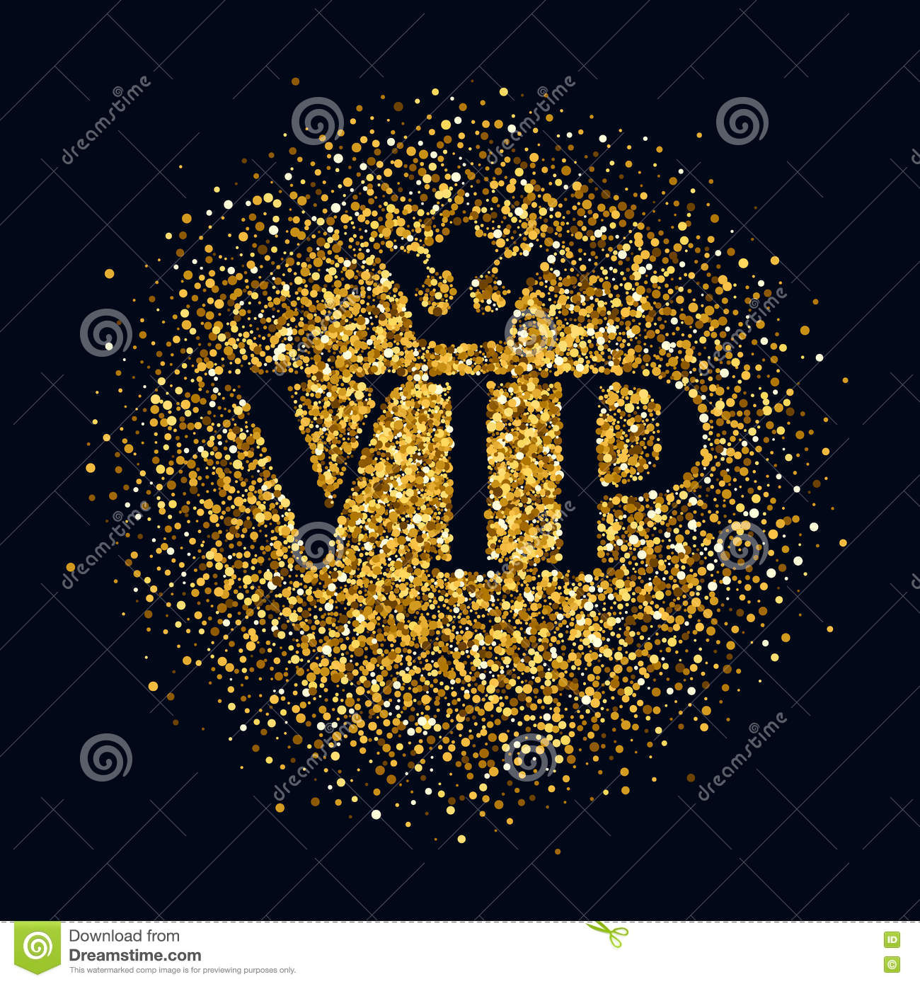 VIP Abstract Golden Glow Glitter Background. Stock Vector.
