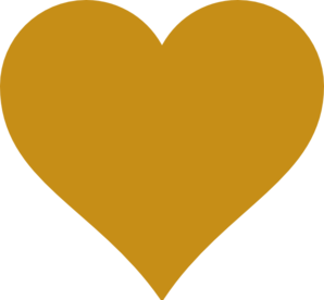 Golden heart clipart.
