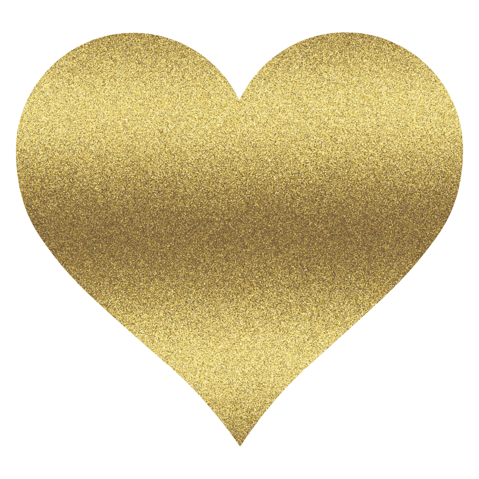 Gold Heart Clipart.