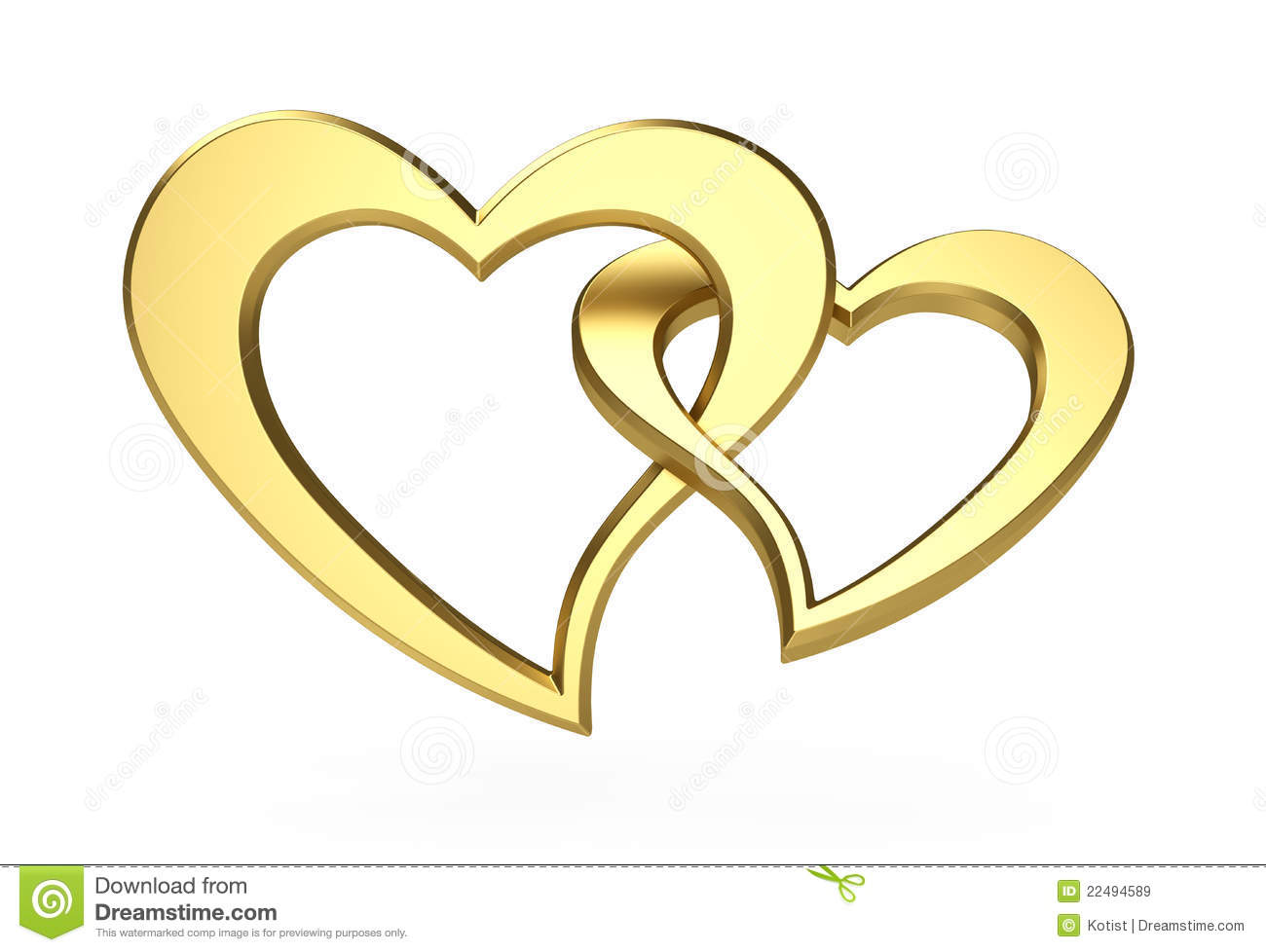 Golden Hearts Royalty Free Stock Images.
