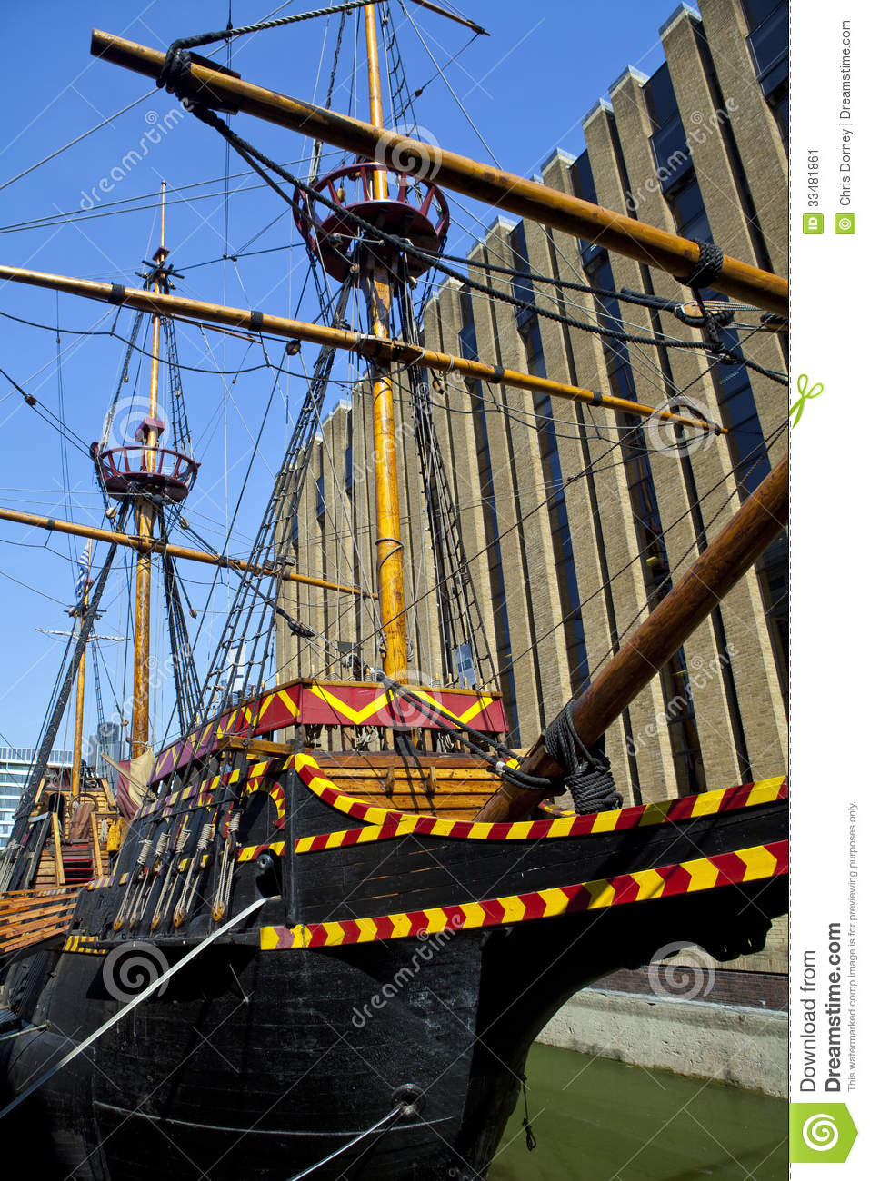 The Golden Hind Galleon Ship In London Stock Image.