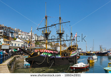 Golden Hind Stock Photos, Royalty.