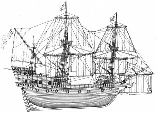SS The Golden Hind [Sir Francis Drake Galleon].