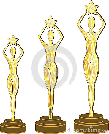 Lady Statue Trophy Stock Photography.
