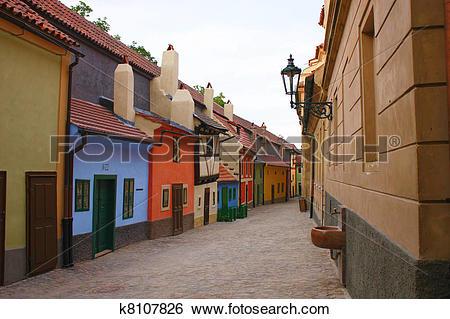 Stock Images of Golden lane in Prague k8107826.