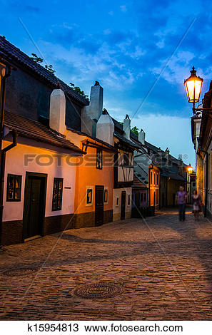 Stock Photo of Little medieval houses on Golden Lane,Praha.