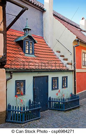 Stock Photography of Golden Lane in Prague Castle csp6984271.